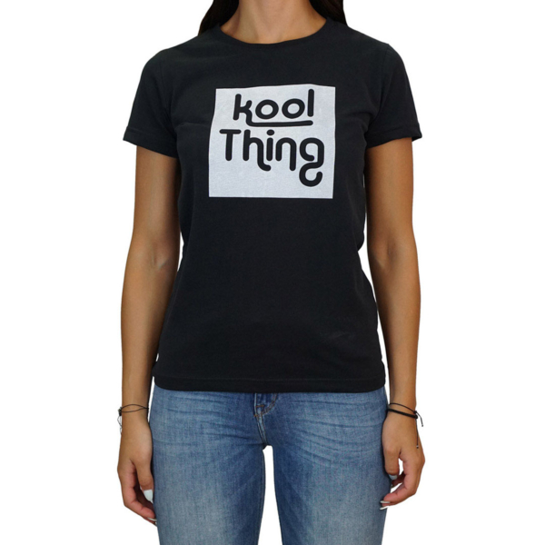 KOOL THING x HOLY STUFF Women T-Shirt - Black (KT-1803BLK)