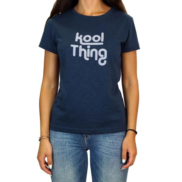 KOOL THING x HOLY STUFF Women T-Shirt - Navy (KT-1803FLNV)