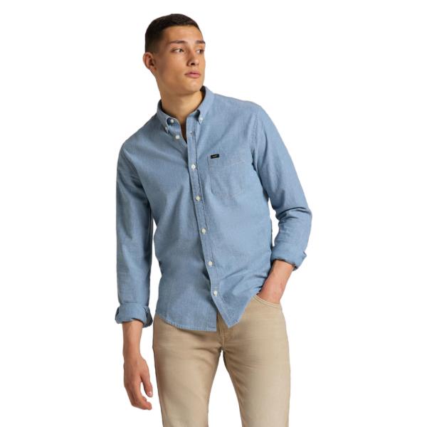 LEE Button Down Shirt - Piscine (L880QMQE)