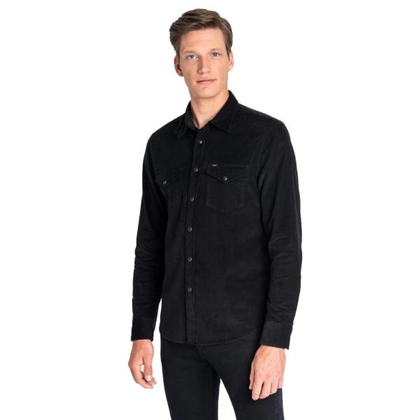 LEE Clean Western Cord Shirt - Black (L644MR01)