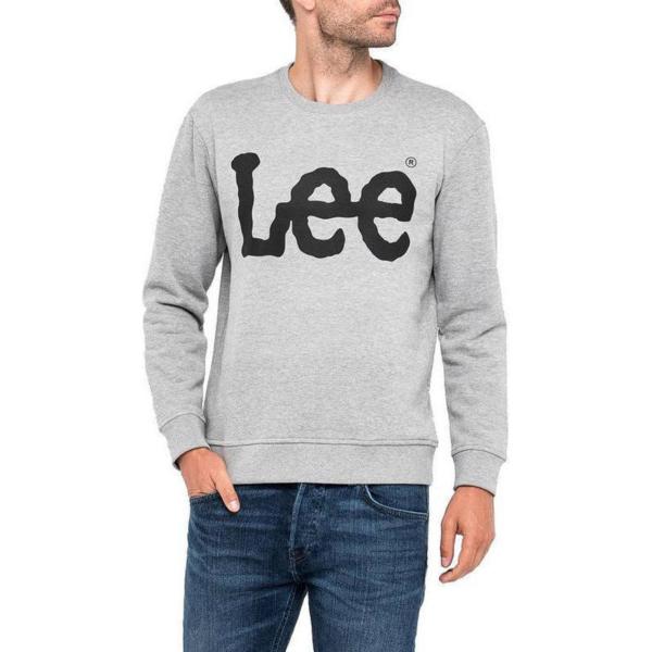 LEE Logo Crew Sweatshirt - Grey Mel (L82UUB37)