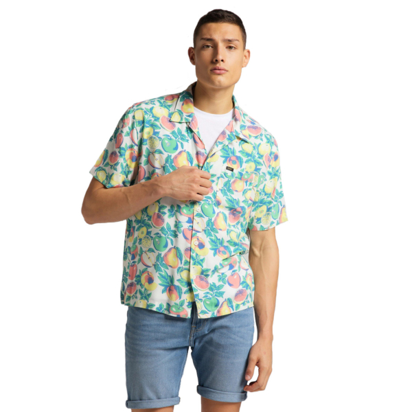 LEE Resort Short Sleeve Shirt - Fairway (L67PQJQD)