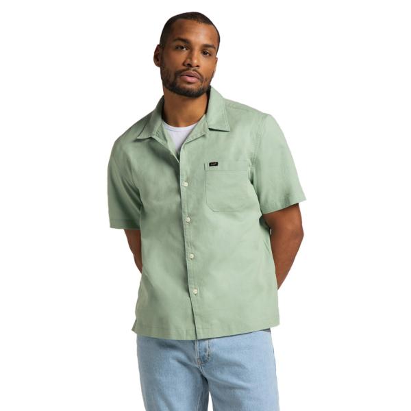 LEE Resort Short Sleeve Shirt - Granite Green (L67PKWQN)