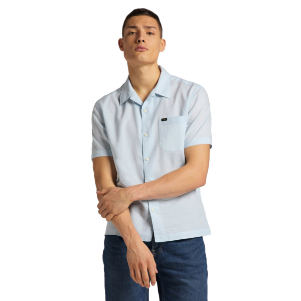 LEE Resort Short Sleeve Shirt - Skyway Blue (L67PKWQL)