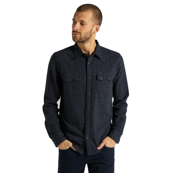 LEE Rider Men Shirt - Dark Grey Mele (L851RP06)