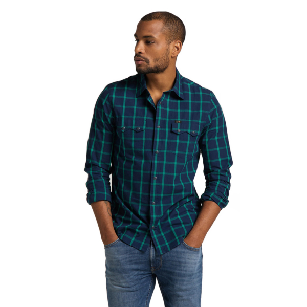 LEE Rider Men Shirt - Fairway (L856KRQD)