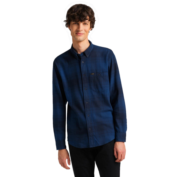 LEE Riveted Men Shirt - Washed Blue (L66INNLR)