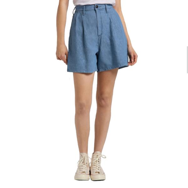 LEE Stella Pleated Shorts for Women - Light Linnen (L37ANBYK)