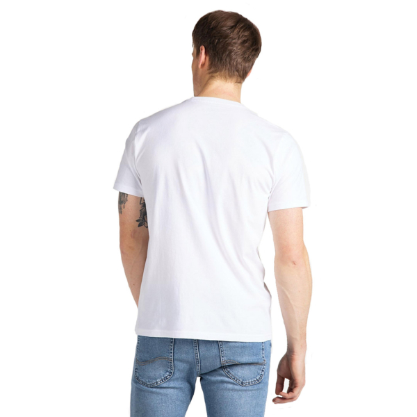 LEE Stripe Logo Tee Men - Bright White (L64V-FQ-LJ)