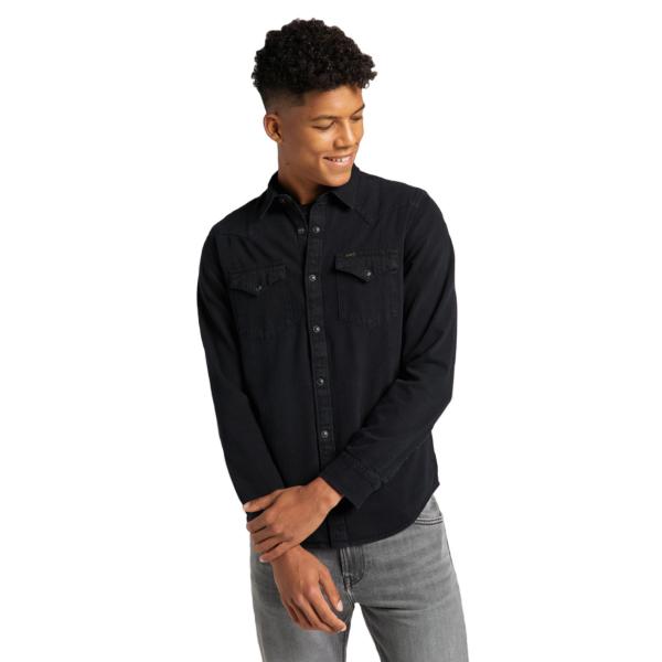 LEE Western Denim Shirt - Black (L66WPA01)