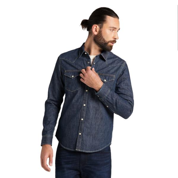 LEE Western Denim Shirt - Blueprint (L66WPLLH)
