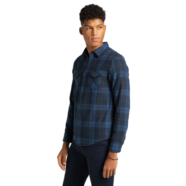 LEE Western Flannel Shirt - Insiginia Blue (L66RMASS)