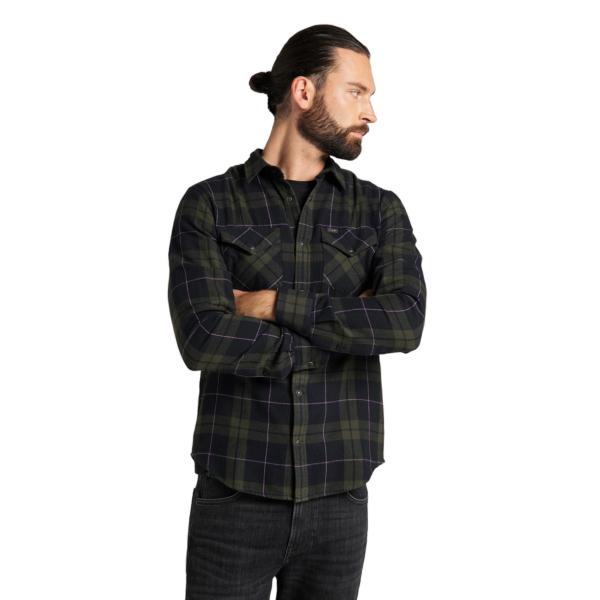 LEE Western Flannel Shirt - Serpico Green (L66RMAOJ)