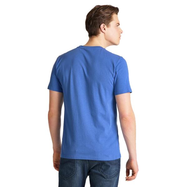 LEE Wobbly Logo Tee Men - Summer Blue (L65Q-FE-NJ)