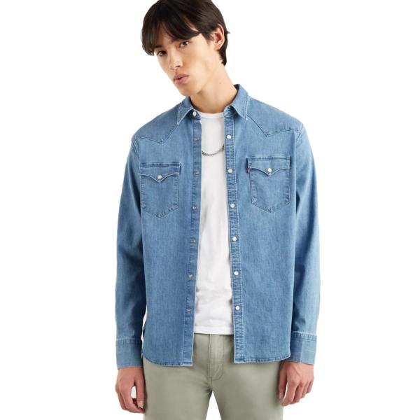 Levi's® Barstow Western Authentic Denim Shirt - Worn In (85744-0024)