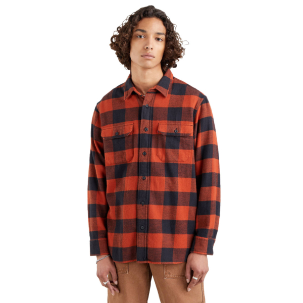 Levi's® Worker Flannel Unisex Shirt - Albany Picante (19587-0162)