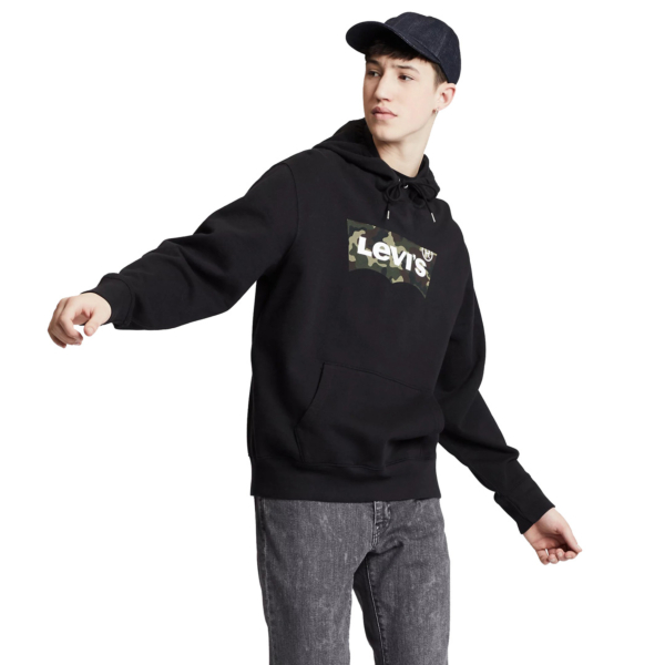 Levi's® Graphic PO Hoodie HM Animal - Mineral Black (19491-0090)