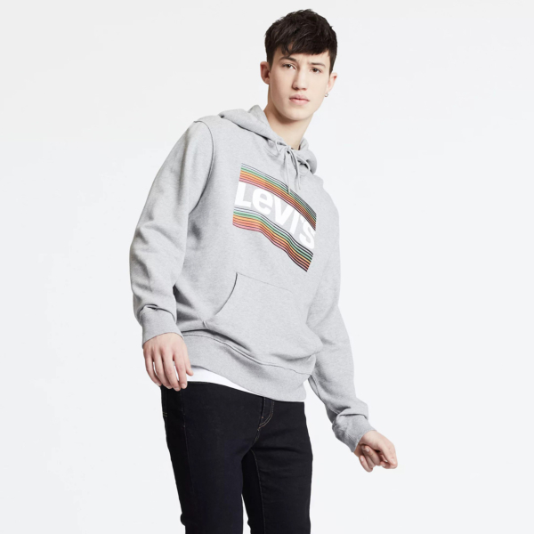 Levi's® Graphic PO Hoodie SSNL Tech - Midtone Heather Grey (19491-0076)