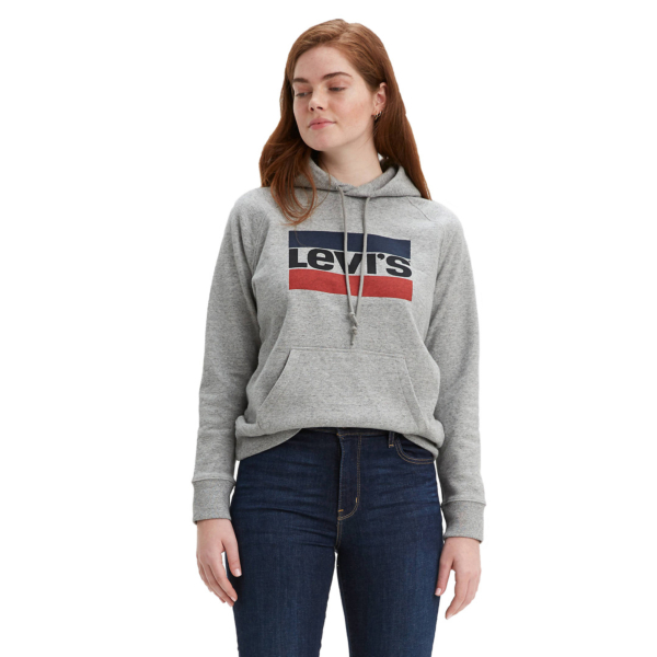 Levi's® Graphic Sport Hoodie - Smokestack Heather (35946-0000)