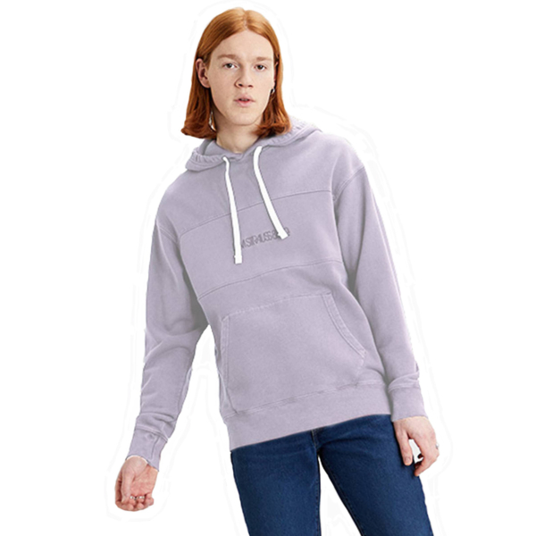 Levi's® Novelty Hood Relaxed - Blocked Lavender Frost Garment Dye (35872-0001)