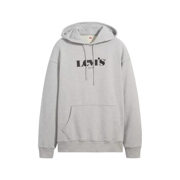 Levi's® Relaxed Graphic MV Logo Hoodie - Heather Grey (38479-0040)