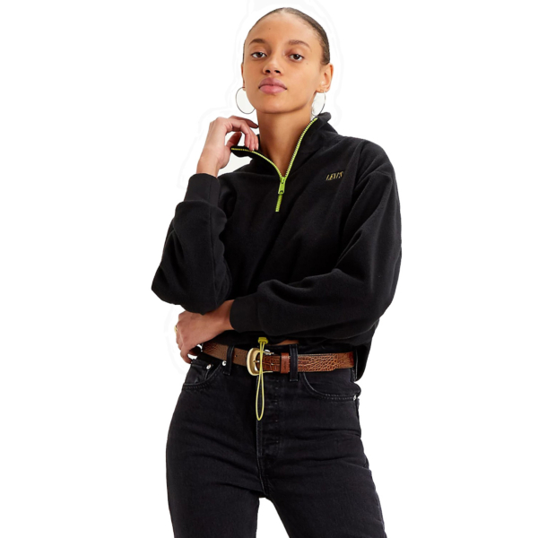 Levi's® Trekker Quarter Zip Women Fleece - Caviar (21574-0002)