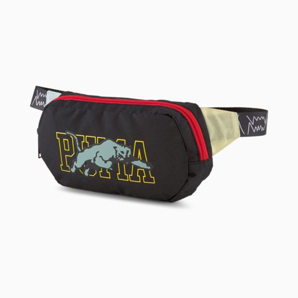 Puma Basketball Waist Bag - Black/ High Risk Red (078559-02)