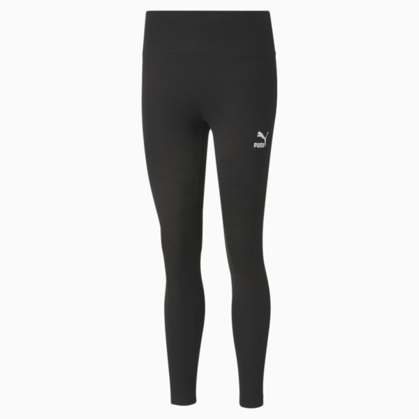 PUMA Classics High Rise Rib Leggings - Black (599598-01)