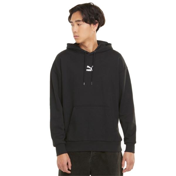 PUMA Classics Oversized Hoodie - Black (532138-01)