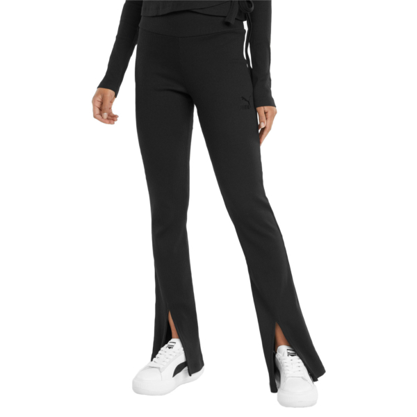 PUMA Classics Rib Slit Pants - Black (531614-01)
