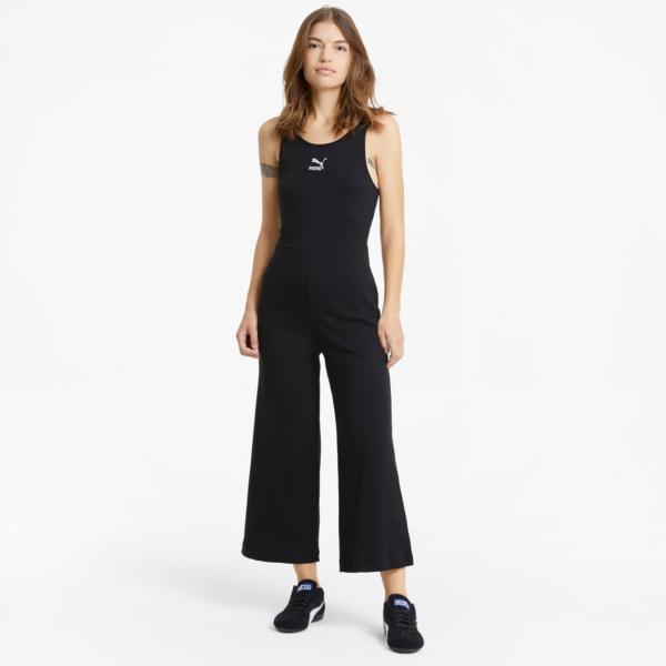 PUMA Classics Rib Jumpsuit - Black (599601-01)
