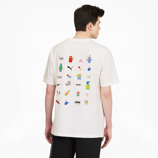 PUMA Downtown Graphic Tee - White (530889-52)