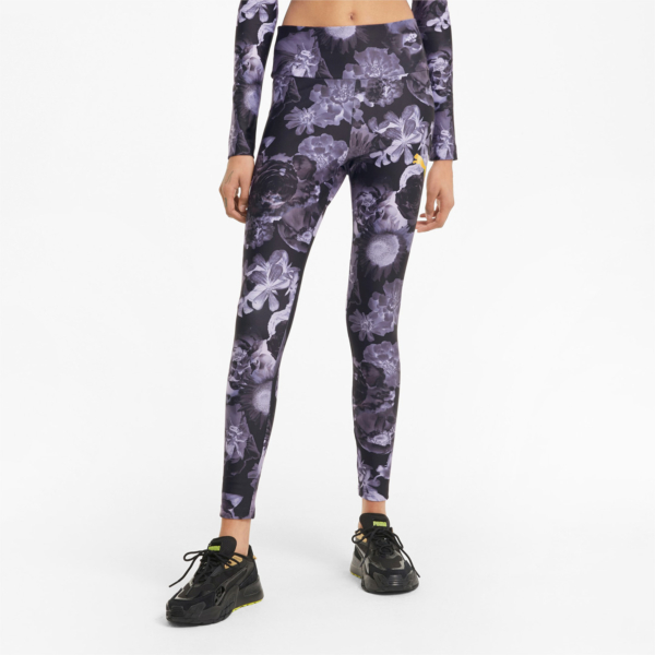 PUMA Evide Printed Leggings - Elektro Purple (530847-28)
