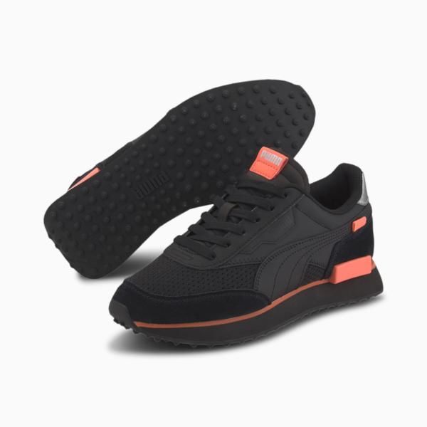 PUMA Future Rider Tulle Women Sneakers - Black/ Nrgy Peach (374134-02)