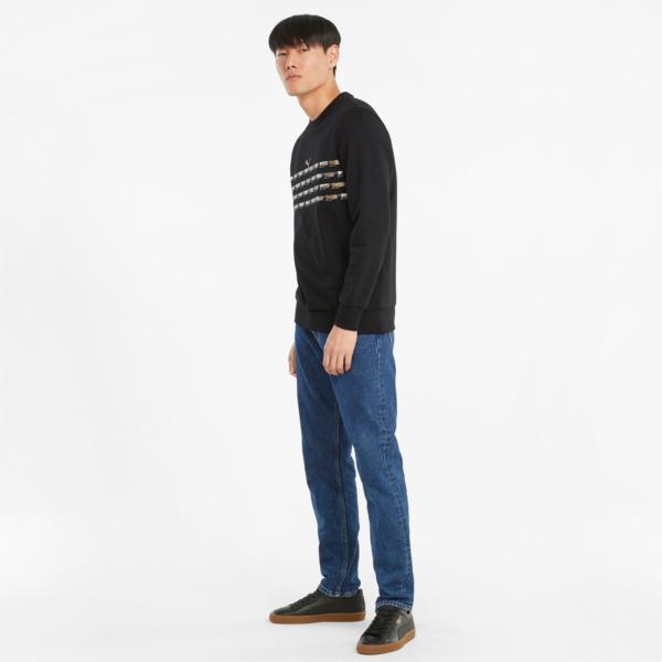 PUMA Graphic Crew Sweatshirt - Black/ Gold (531523-56)