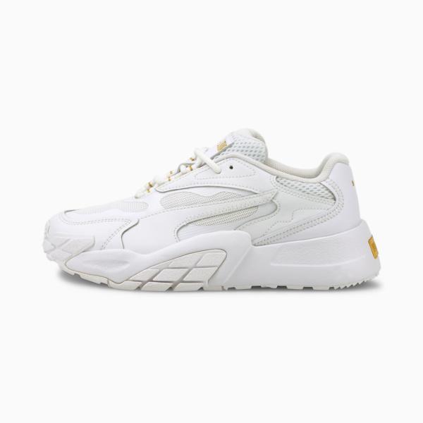 PUMA Hedra Women Sneakers - White/ Gold (375120-01)