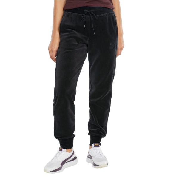 PUMA Iconic T7 Velour Pants - Black (531620-01)