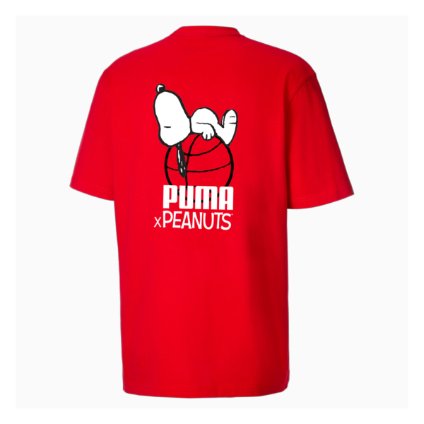 PUMA x Peanuts Men Tee - High Risk Red (530616-11)