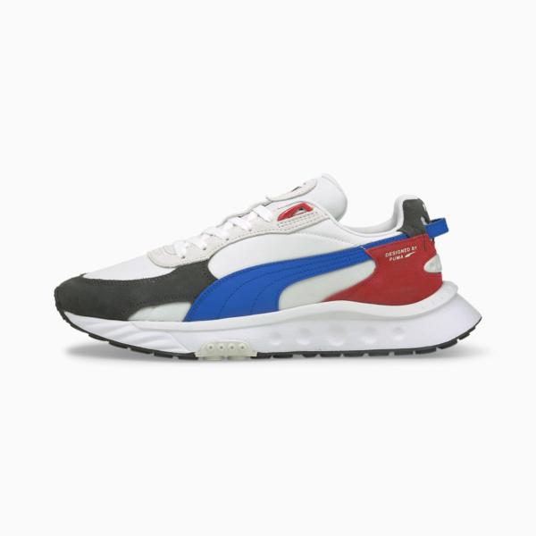 PUMA Wild Rider Rollin Sneakers - Ebony/ White (381517-04)