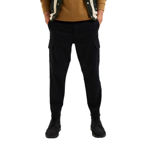 SELECTED Gainford Cargo Tapered Pants (16080539-Black)