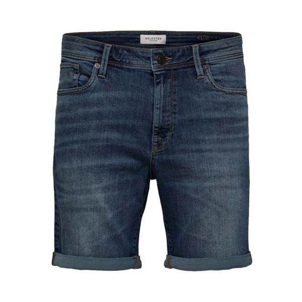 SELECTED Alex Stretch Denim Shorts (16071938-Medium Blue)