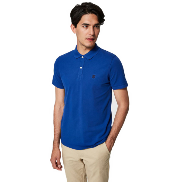 SELECTED Haro Embroidery Polo (16049517-Limoges)