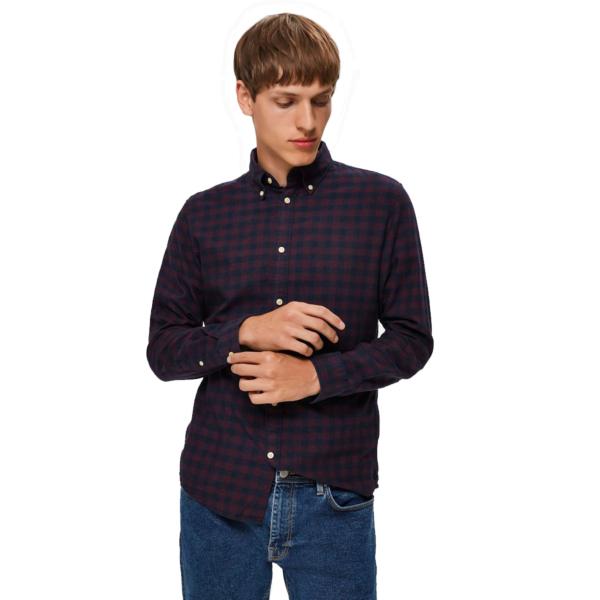 SELECTED Homme Slim Flannel Shirt - Port Royale (16074464)