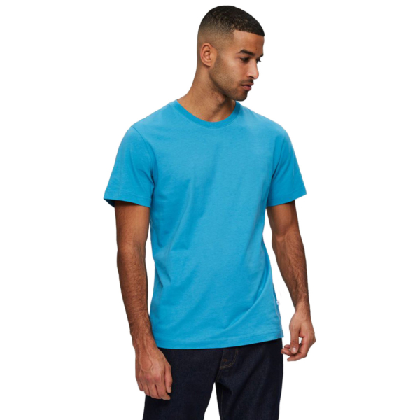 SELECTED Norman O Neck Tee (16077365-Bluejay)