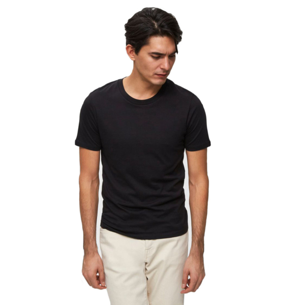 SELECTED Perfect O Neck Tee - Black (16057141-BLK)