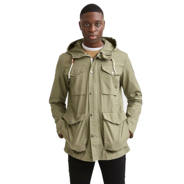 SELECTED West Hooded Cotton Parka Jacket (16076968-Dusky-Green)