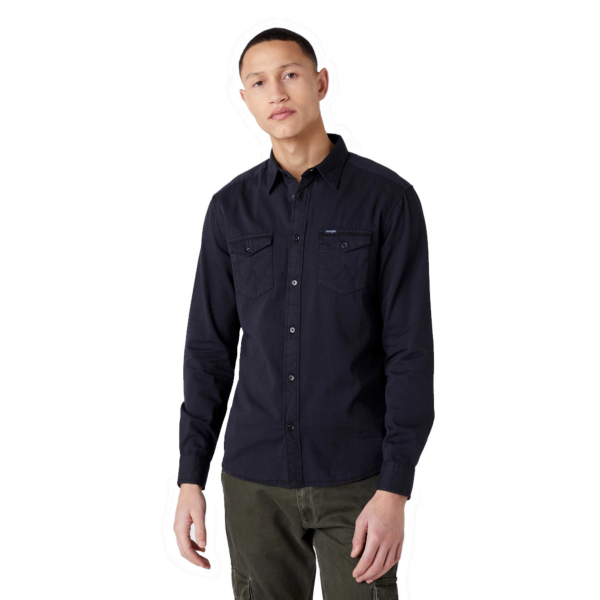 WRANGLER Two Pocket Flap Men Shirt - Dark Navy (W5A5MZXAE)