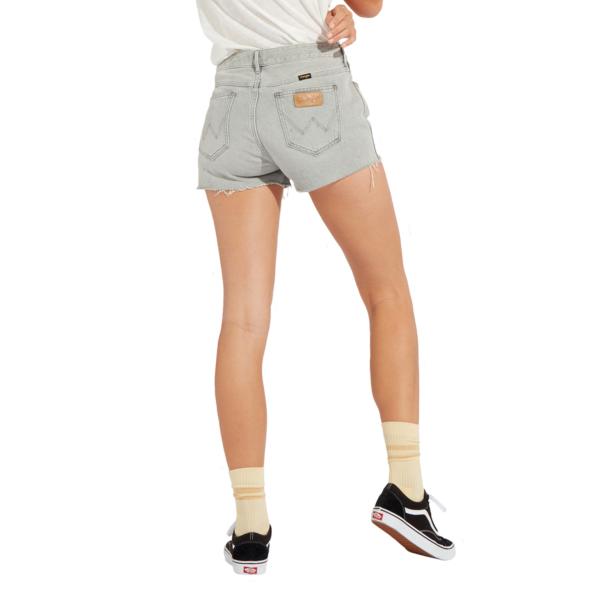 WRANGLER Boyfriend Denim Shorts - Icy Grey (W29KRJ28C)