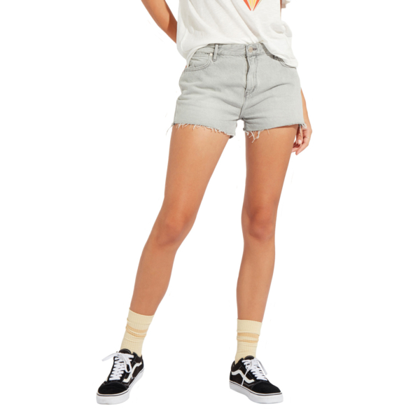 WRANGLER Boyfriend Denim Shorts - Icy Grey (W29KRJ28C)