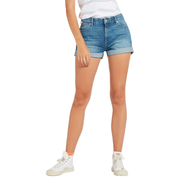WRANGLER Boyfriend Denim Shorts - Motel Blue (W29KVC245)